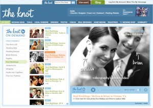 """Featured in The Knot TV's """"Real Weddings"""" - Dolce Studio Films footage has been used by The Knot TV On Demand to showcase a Real Wedding!"""