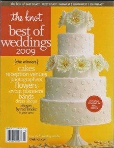 """Dolce was included in The Knot """"Best of"""" Weddings Pick: 2009"""