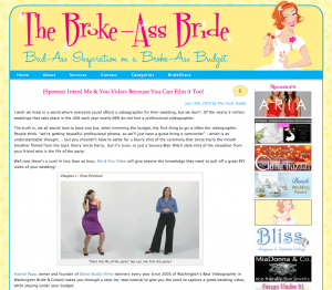 The best ever blog write up about Dolce's Me&You Video online course! Check out The Broke-Ass Bride's July 15, 2010 blog.
