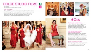 """Dolce Studio Films featured in Crave DC, a 2010 book release heralded as """"The Urban Girl's Manifesto""""; owner Haynal Papp listed as one of the 100 women you need to know in DC."""