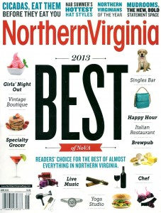 Dolce Studio Films selected as Best Videographer in Northern Virginia by Northern Virginia magazine's prestigious 2013 Best Of list; only one company selected from each category.