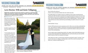 Washingtonian Love Stories: A happy customer steps behind the lens: Will and Katie chose dolce studio films to capture their wedding and were highly impressed by dolce studio films's professionalism and service. Katie contacted dolce studio films after the wedding and was a shooter with us for 2 years!