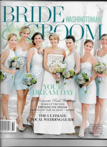 """Dolce included as """"Best Wedding Videographer"""" in Washingtonian Bride & Groom sprin 2015 magazine"""